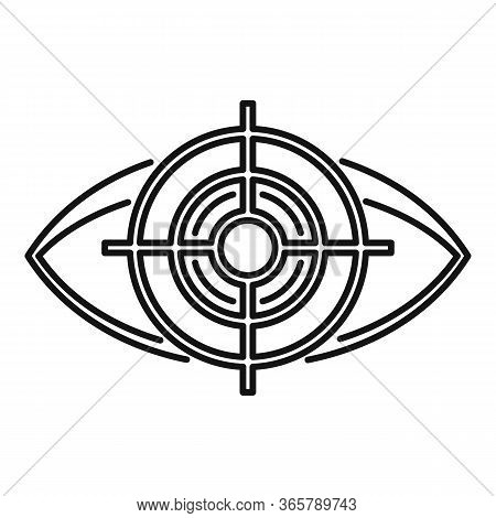 Target Eye Examination Icon. Outline Target Eye Examination Vector Icon For Web Design Isolated On W
