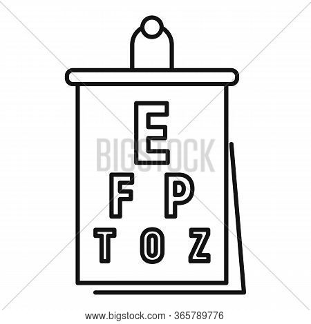 Eye Examination Banner Icon. Outline Eye Examination Banner Vector Icon For Web Design Isolated On W