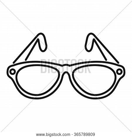 Examination Eyeglasses Icon. Outline Examination Eyeglasses Vector Icon For Web Design Isolated On W