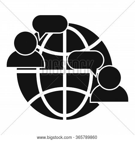 Global Advice Icon. Simple Illustration Of Global Advice Vector Icon For Web Design Isolated On Whit