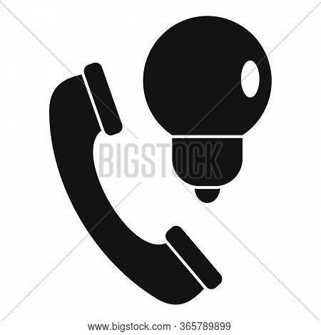 Telephone Call Advice Icon. Simple Illustration Of Telephone Call Advice Vector Icon For Web Design