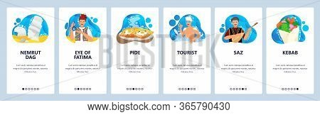 Turkey Website And Mobile App Onboarding Screens Vector Template