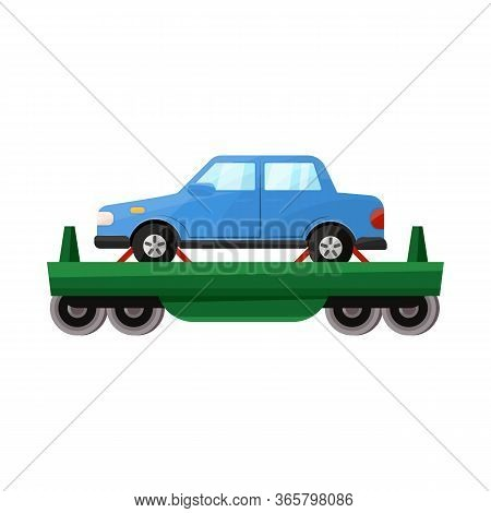 Vector Illustration Of Wagon And Cargo Logo. Graphic Of Wagon And Vehicle Vector Icon For Stock.