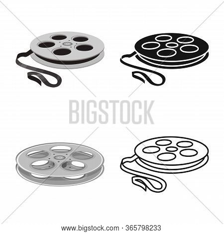 Isolated Object Of Reel And Movie Sign. Web Element Of Reel And Clapper Stock Symbol For Web.