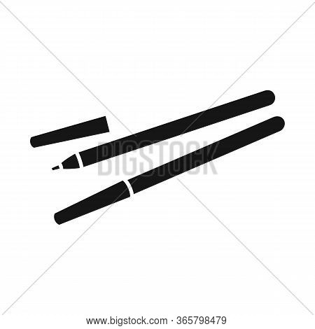 Vector Illustration Of Eyeliner And Contour Icon. Web Element Of Eyeliner And Pencil Vector Icon For