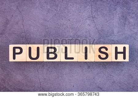 Publish Word Made With Wood Building Blocks.