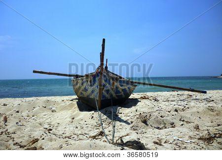 boats resting in the Mpu Rancak beach,