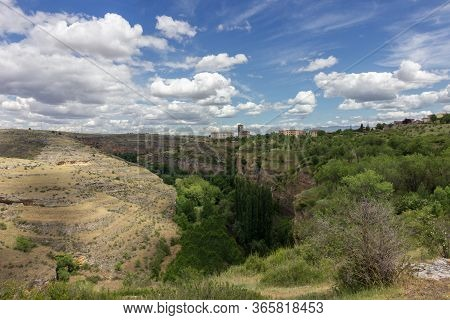 Views Of The River And Nature Near Sepulveda (spain)