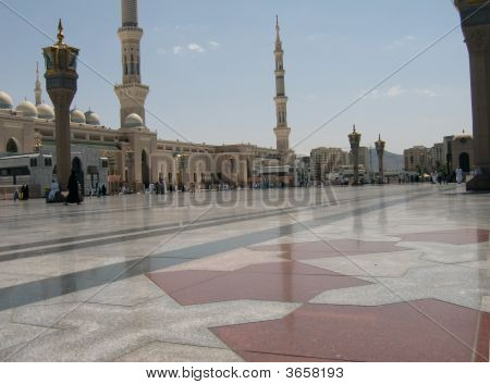 Exterior Shot Of The Prophet's Mosque, Madinah - Saudi Arabia