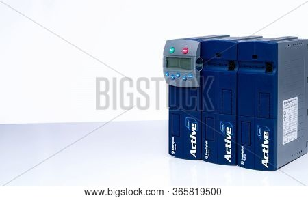 Chonburi, Thailand-april 19, 2020 : Bonfiglioli Vectron Frequency Inverter. Inverter Controller. Pow