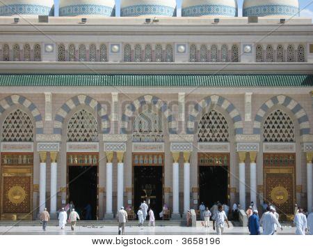 Main Entrance To The Prophet's Mosque - Madinah, Saudi Arabia