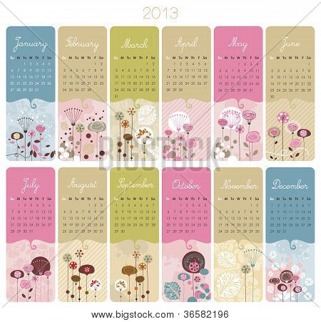 2013 Calendar Set