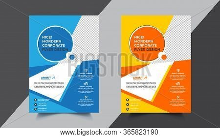Flyer Poster Corporate Business Pamphlet Brochure Cover Design Layout Background, Two Colors Scheme,