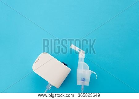 Top View Of The Electronic Device Steam Generator For Home Treatment Of Bronchial Diseases. The Mode