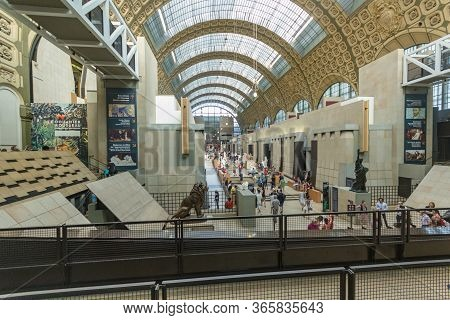 Paris, France - June 23 2016: The Museum D Orsay In Paris, France, View From The Street. Musee Dorsa