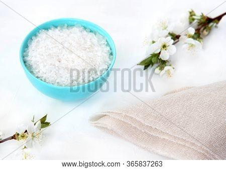 Homemade Skin Exfoliant Skin Scrub Of Sea Salt