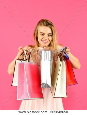 My Birthday. Fashion Is Nothing But Choice. Successful Shopping. Black Friday Concept. Shopping Onli