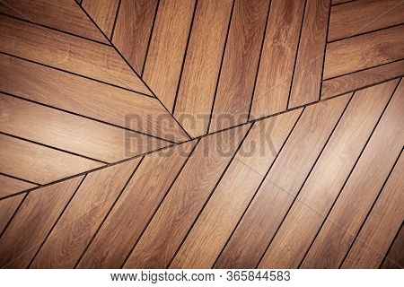 Flooring From Wooden Boards, Parquet, Places For Joining Boards, Natural Material For Walls And Floo