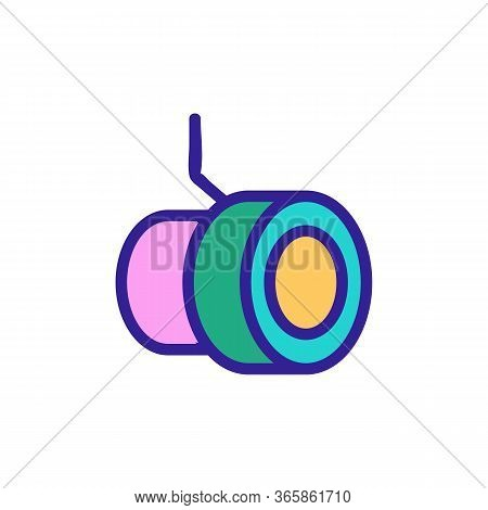 Round Built In Floodlight Icon Vector. Round Built In Floodlight Sign. Color Symbol Illustration