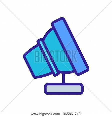 Portable Spotlight Icon Vector. Portable Spotlight Sign. Color Symbol Illustration