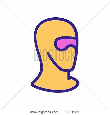 Safety Ski Goggles Mask Icon Vector. Safety Ski Goggles Mask Sign. Color Symbol Illustration