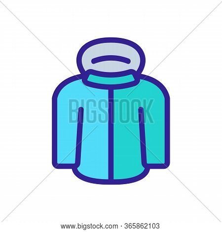Nsulated Skier Jacket Icon Vector. Nsulated Skier Jacket Sign. Color Symbol Illustration