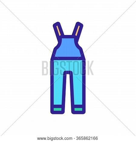 Long Jumpsuit For Protection Icon Vector. Long Jumpsuit For Protection Sign. Color Symbol Illustrati