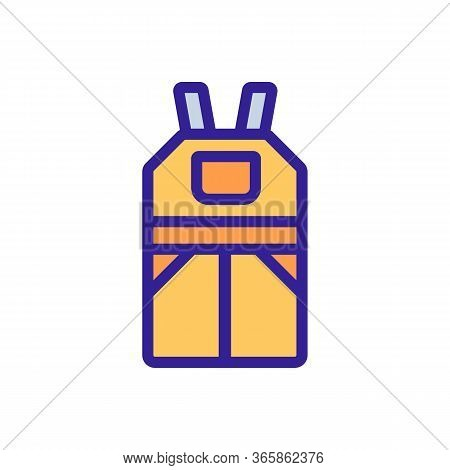 Industrial Overalls Icon Vector. Industrial Overalls Sign. Color Symbol Illustration