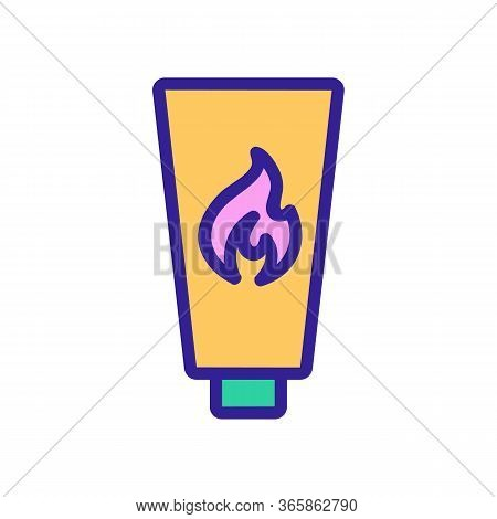 Thermal Effect Lubricant Icon Vector. Thermal Effect Lubricant Sign. Color Symbol Illustration
