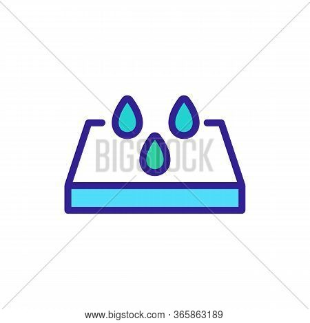 Concrete Slabs Side View Icon Vector. Concrete Slabs Side View Sign. Color Symbol Illustration