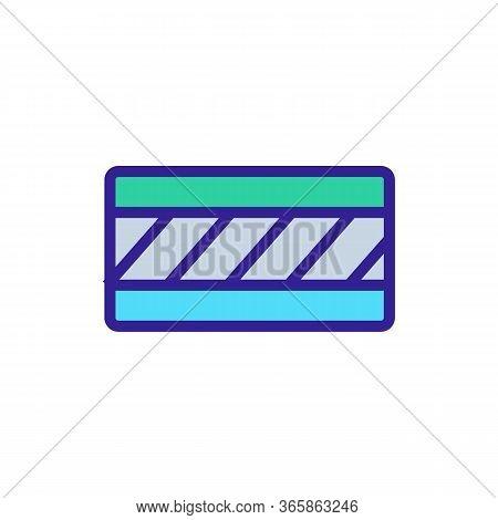 Waterproof Floor Material Icon Vector. Waterproof Floor Material Sign. Color Symbol Illustration
