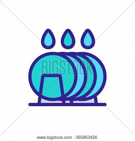Arrival Of Soap Gel On Plates Icon Vector. Arrival Of Soap Gel On Plates Sign. Color Symbol Illustra