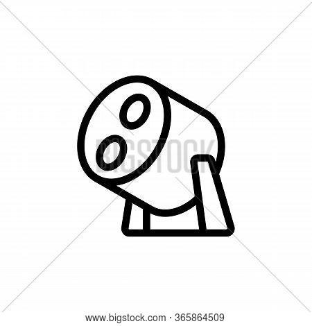Halogen Spotlight Icon Vector. Halogen Spotlight Sign. Isolated Contour Symbol Illustration
