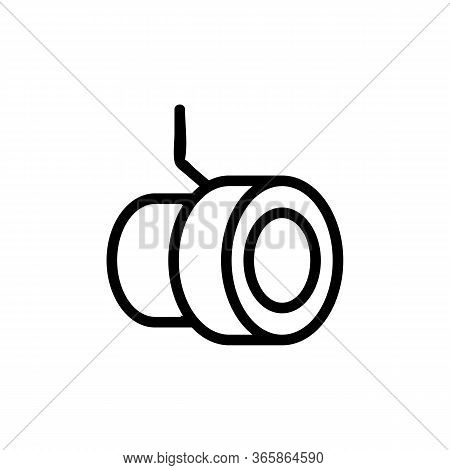 Round Built In Floodlight Icon Vector. Round Built In Floodlight Sign. Isolated Contour Symbol Illus