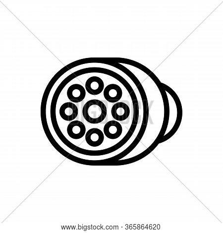 Led Round Spotlight Icon Vector. Led Round Spotlight Sign. Isolated Contour Symbol Illustration