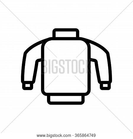 Skier Safety Sweater Icon Vector. Skier Safety Sweater Sign. Isolated Contour Symbol Illustration