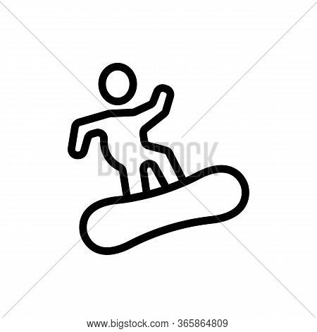 Snowboarder Skier Icon Vector. Snowboarder Skier Sign. Isolated Contour Symbol Illustration