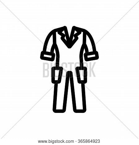 Short Sleeved Work Clothes Icon Vector. Short Sleeved Work Clothes Sign. Isolated Contour Symbol Ill