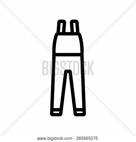 Protective Clothing Icon Vector. Protective Clothing Sign. Isolated Contour Symbol Illustration
