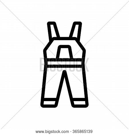Sleeveless Jumpsuit Icon Vector. Sleeveless Jumpsuit Sign. Isolated Contour Symbol Illustration
