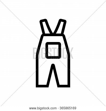 Work Overalls With Big Pocket Icon Vector. Work Overalls With Big Pocket Sign. Isolated Contour Symb