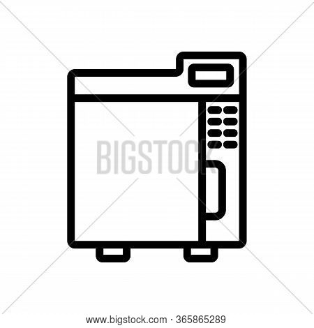 Instrument Disinfector Icon Vector. Instrument Disinfector Sign. Isolated Contour Symbol Illustratio