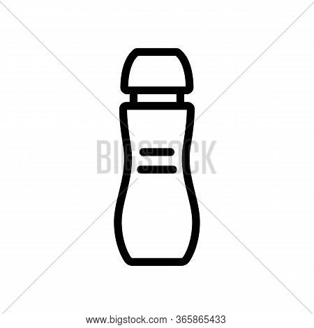 Slip Grease Icon Vector. Slip Grease Sign. Isolated Contour Symbol Illustration