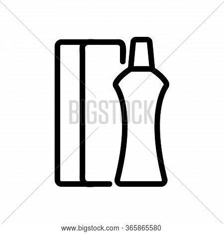 Narrowed Bottle Icon Vector. Narrowed Bottle Sign. Isolated Contour Symbol Illustration