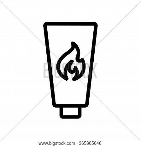 Thermal Effect Lubricant Icon Vector. Thermal Effect Lubricant Sign. Isolated Contour Symbol Illustr