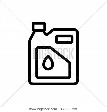 Fuel Lubricant In Canister Icon Vector. Fuel Lubricant In Canister Sign. Isolated Contour Symbol Ill