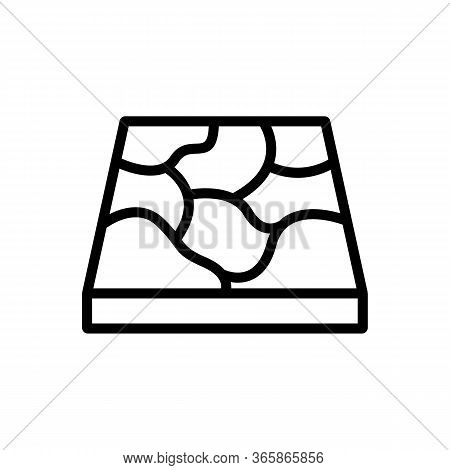 Marble Drawing Material Icon Vector. Marble Drawing Material Sign. Isolated Contour Symbol Illustrat