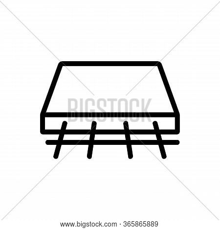 Shift Concrete Slabs Icon Vector Outline Illustration