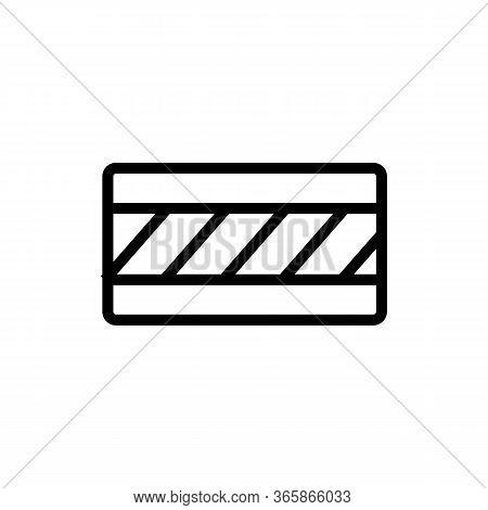 Floor Material Diagonal Pattern Icon Vector. Floor Material Diagonal Pattern Sign. Isolated Contour
