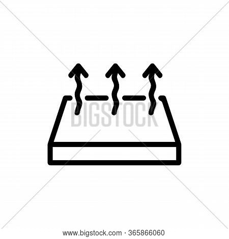 Vapor Floor Icon Vector. Vapor Floor Sign. Isolated Contour Symbol Illustration